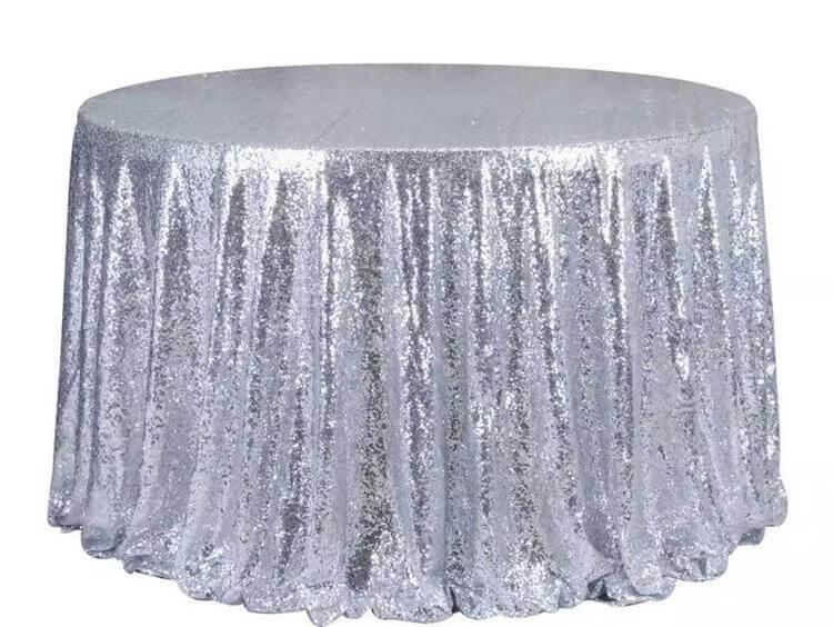silver table cloths