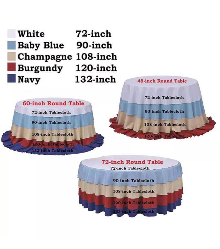 table cloths size