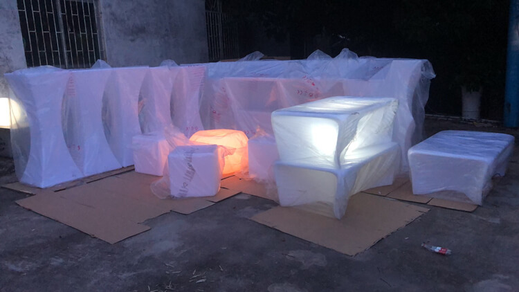 led bar table packaging