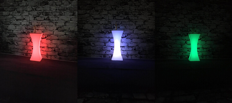 red led bar table