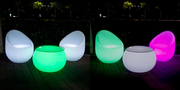 round led cocktail table