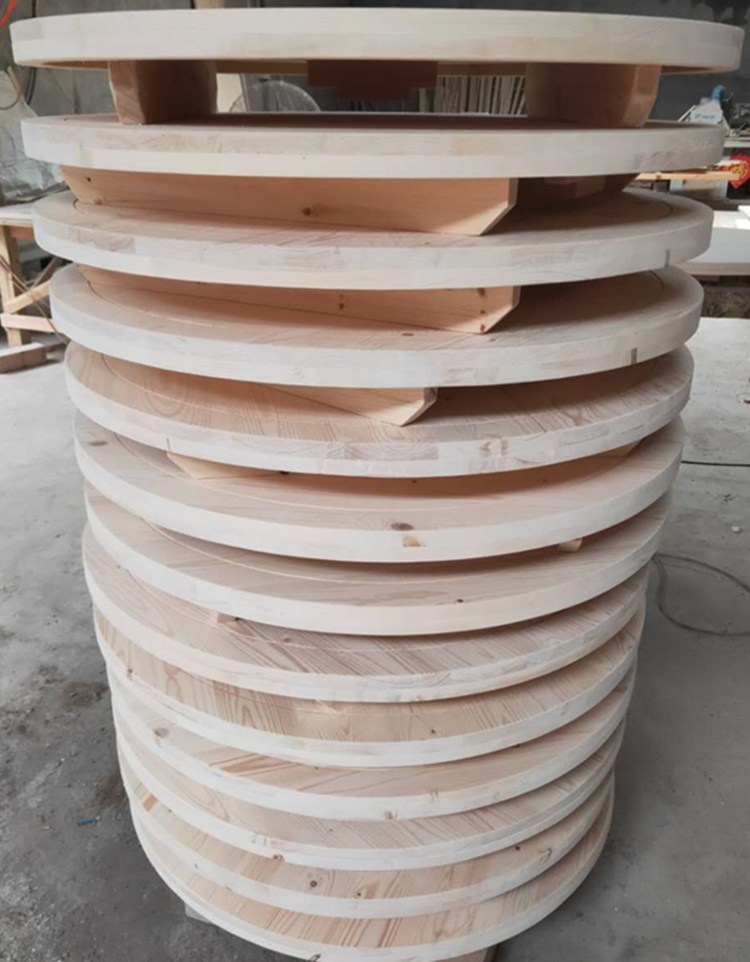 small round folding table outdoor