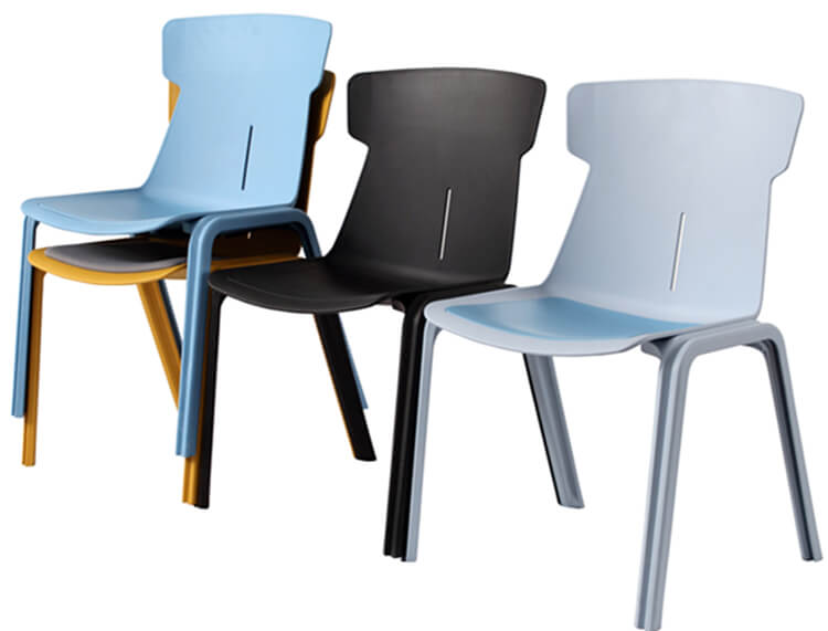 Plastic Resin Cafe Stackable Dining Chair