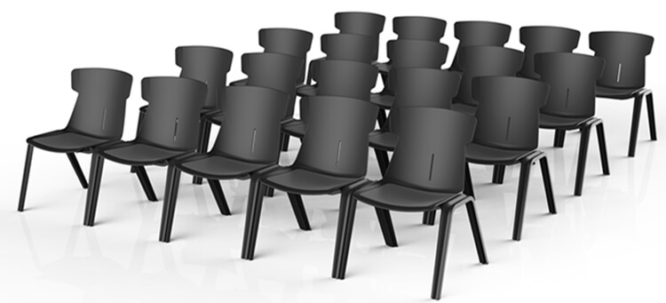 Plastic Resin Cafe Stackable Restaurant Dining Chairs