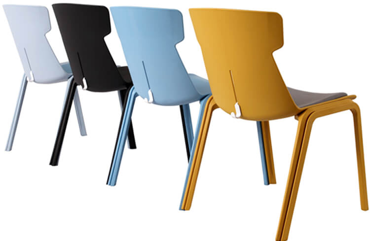 Resin Cafe Stackable Dining Chair