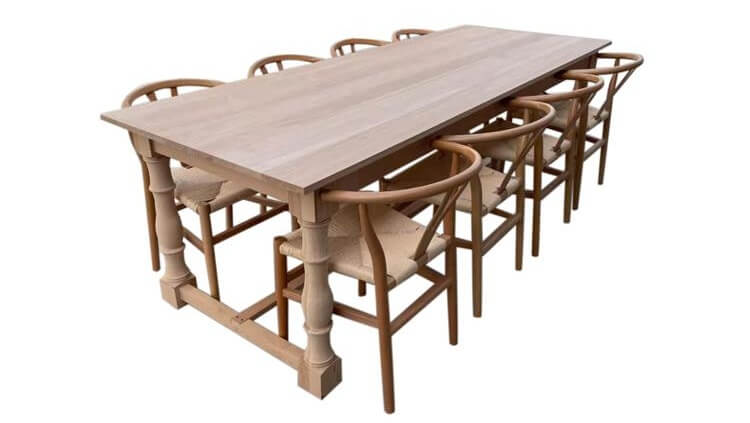 natural Y dining chairs