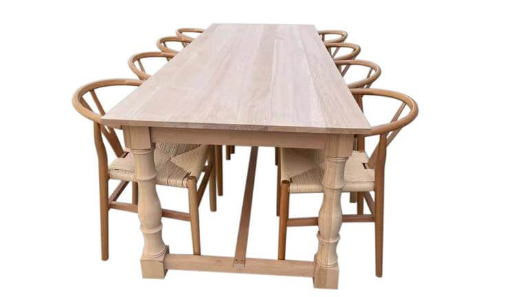 wishbone chairs with tables