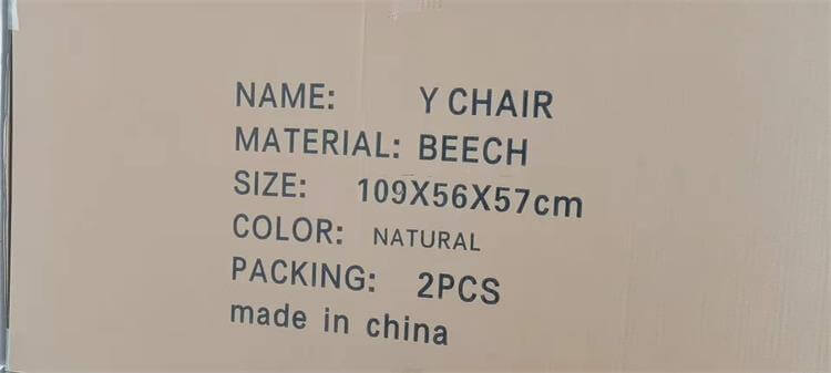 Y chair package size
