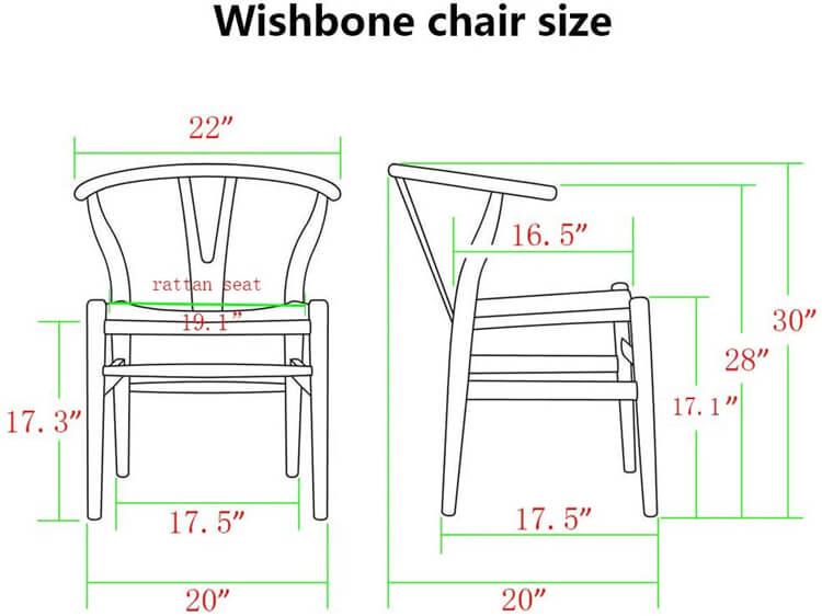 dimensions wishbone chair