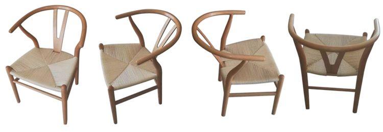 natural wishbone chairs