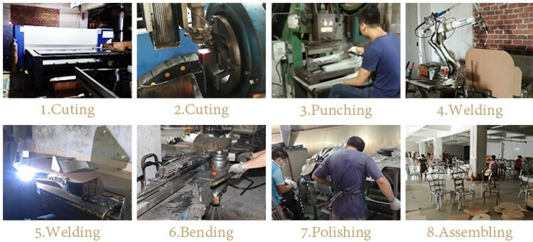 stainless steel dining chairs manufacturing process