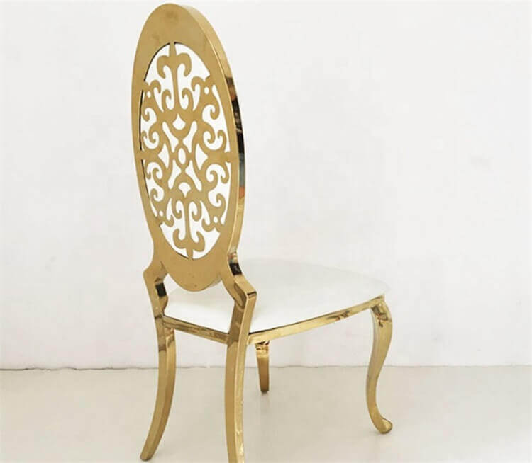 Interchangeable Back Flower Stainless Steel Chair
