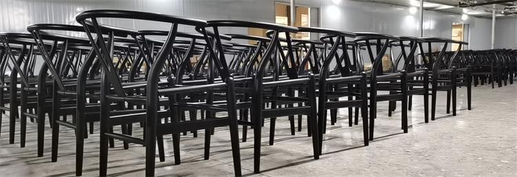 shiny black dining chairs