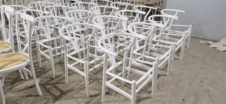 white wishbone chairs