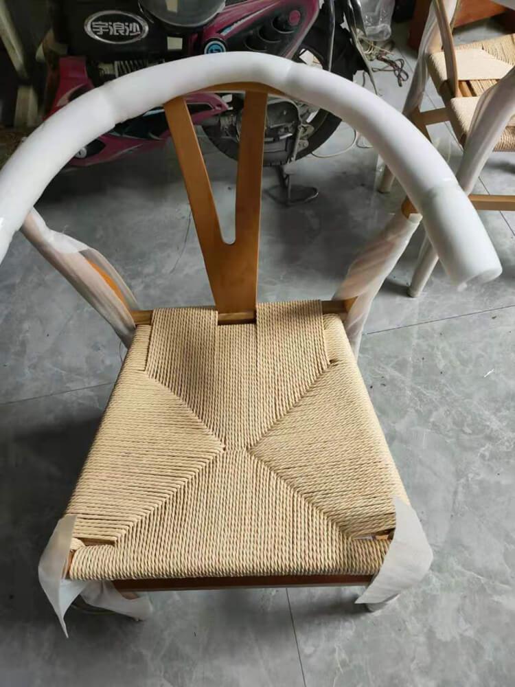 wide wishbone chair