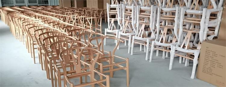 wishbone chairs natural