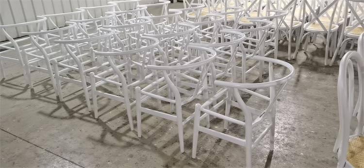 wishbone chairs white