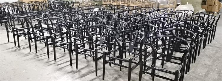 wishbone chairs wholesale black