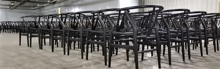 wishbone dining chairs black