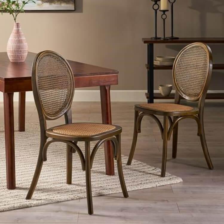 rattan back chair supplier