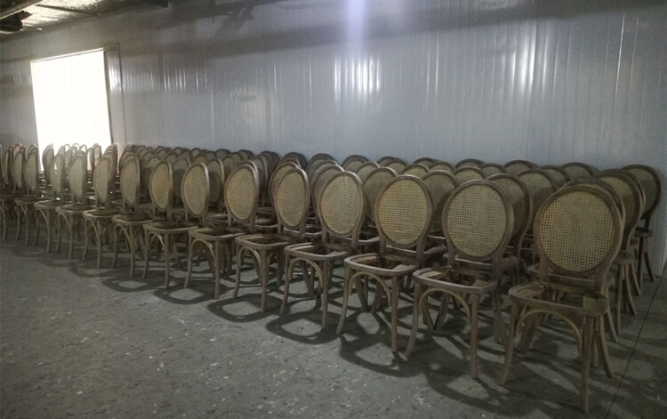 rattan back dining chair factory