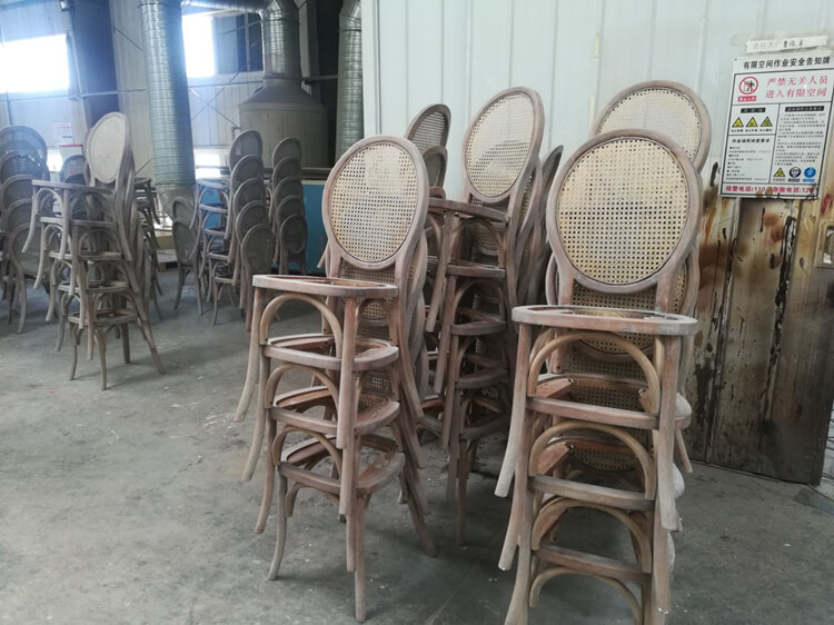 rattan back dining chair