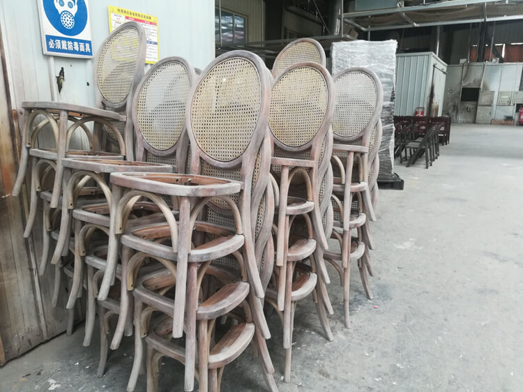 rattan back dining chairs