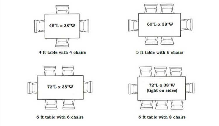 wedding folding tables