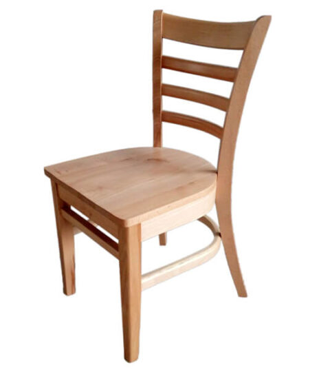 Beechwood Ladder Back Seat Solid Wood Dining Chair