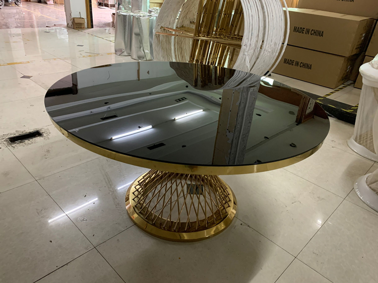 round mirror dining table