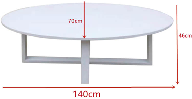 Oval outdoor table manufacturer