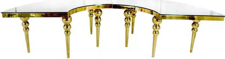 gold serpentine table factory