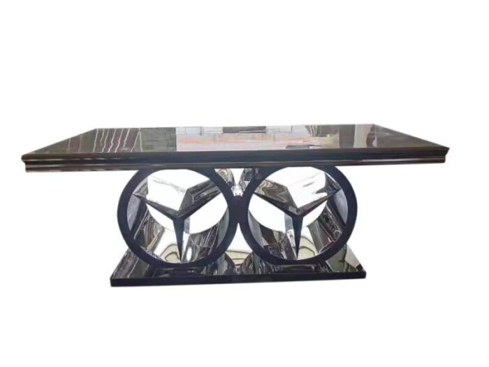 merdeces marble dining table