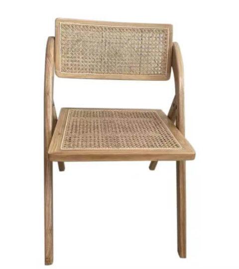 Vintage Rattan Folding Chair