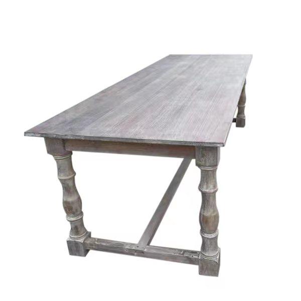 wooden farmhouse table