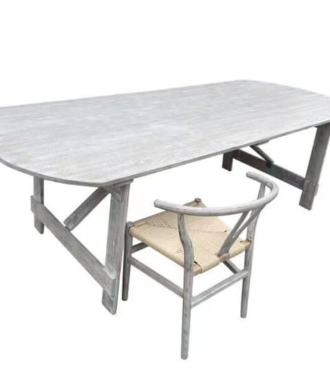 Oval Wooden Folding Table