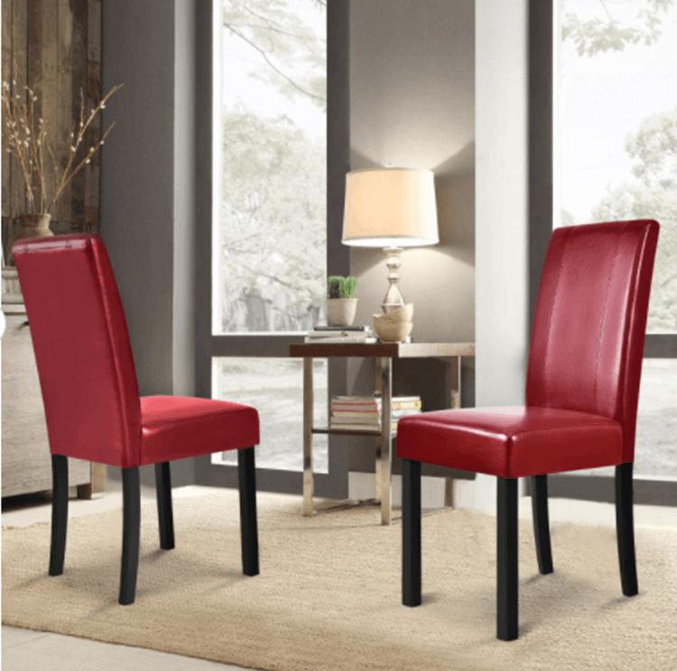 red dining chairs manufacturer