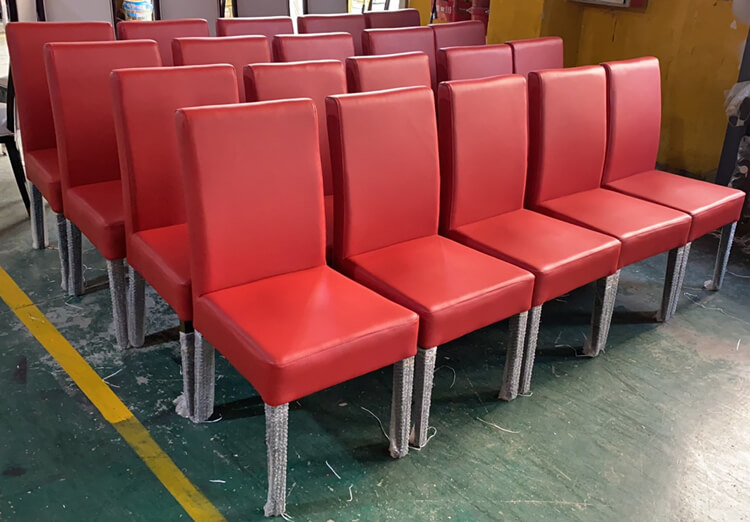 red leather dining chair bulk