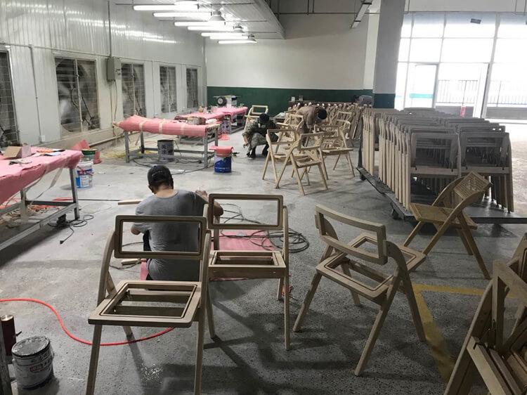 wooden folding chair factory