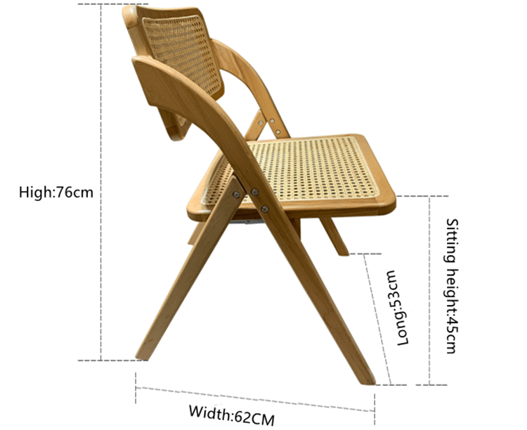 wooden rattan dining chair