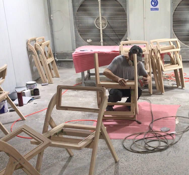 wooden rattan folding chair bulk