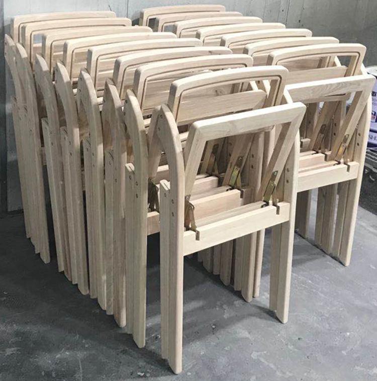 wooden rattan folding chair factory