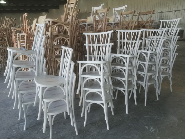brown willow crossback chair
