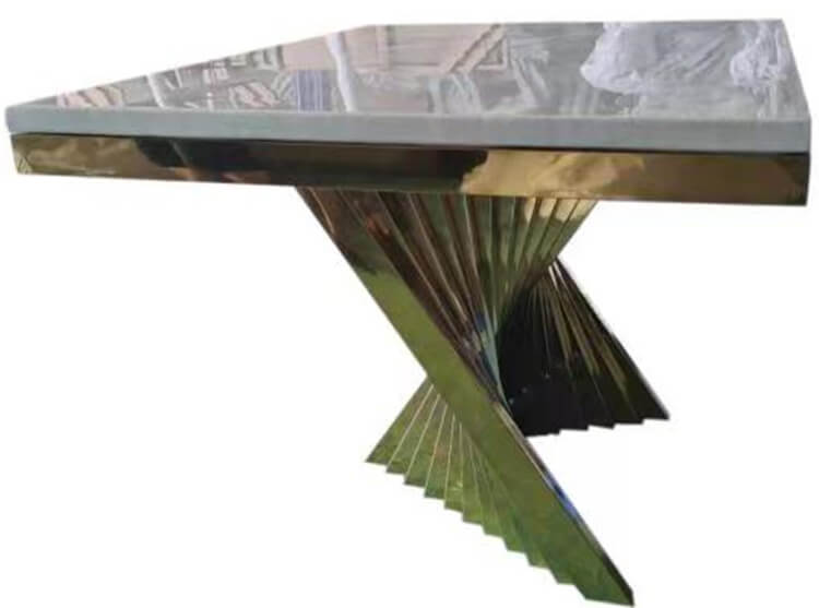 stainless steel wedding table