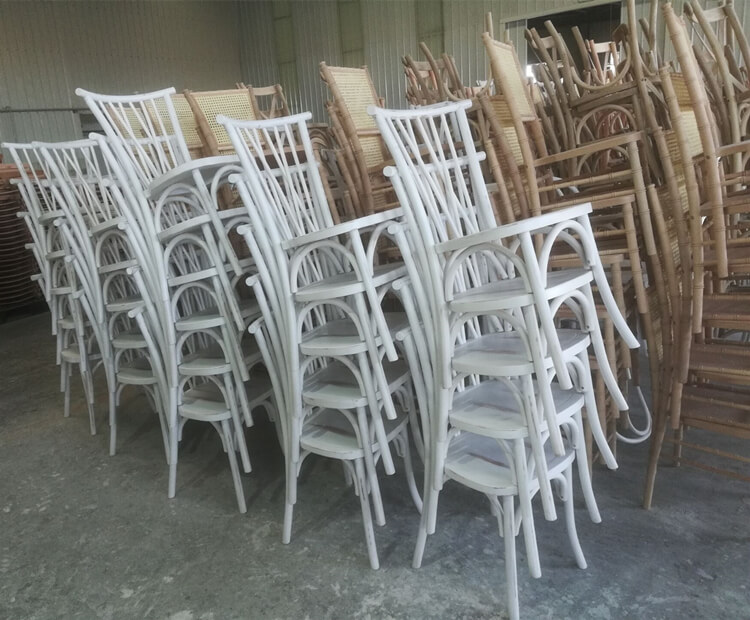 white willow crossback chair
