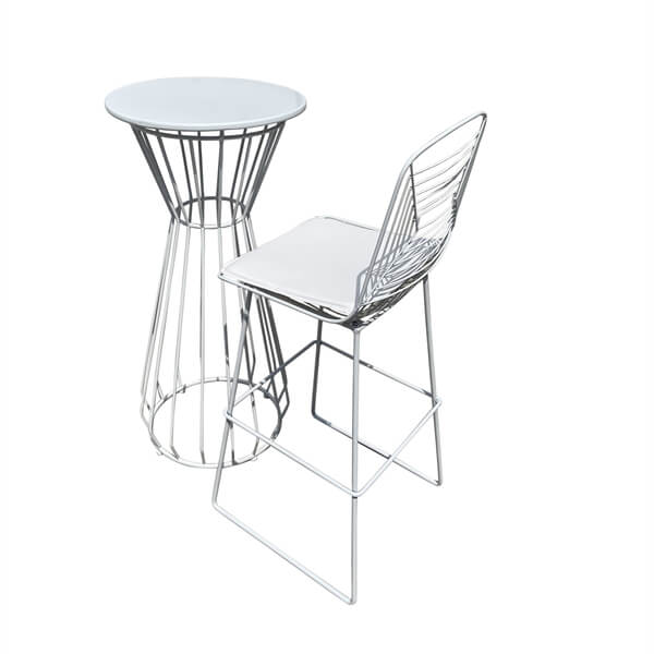 wire table and chairs bulk