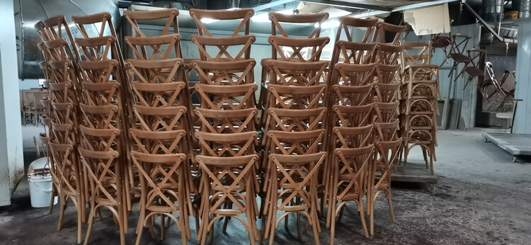 crossback dining chair factory