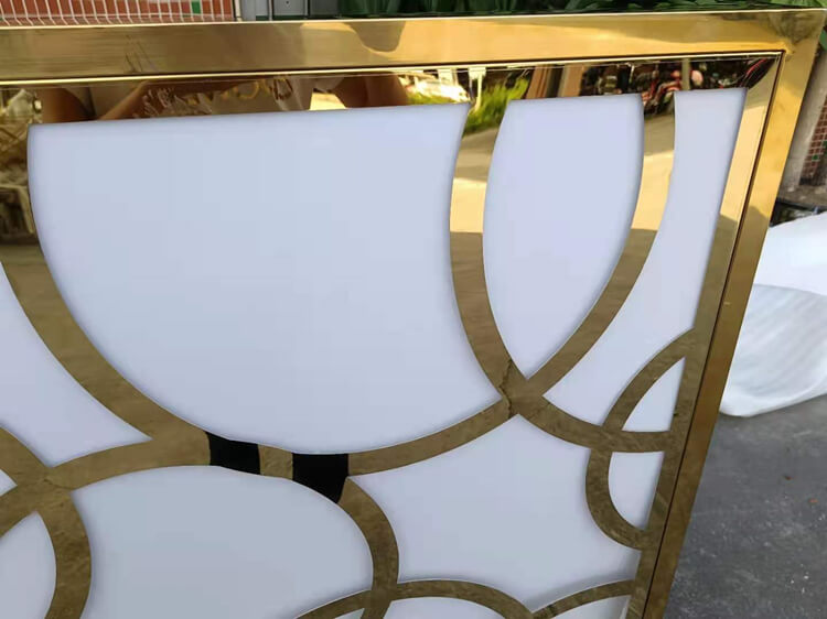 gold stainless steel table