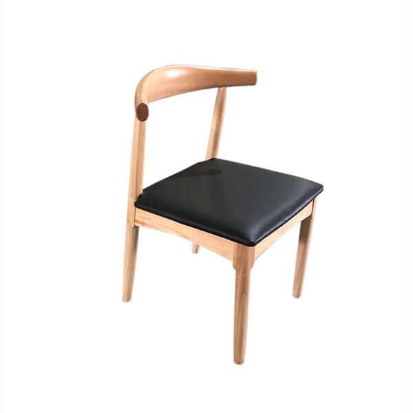 solid wood pu leather cushion chair supplier