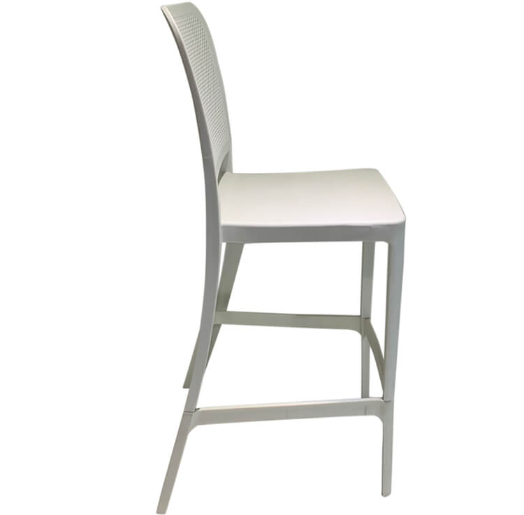 white dining bar chair